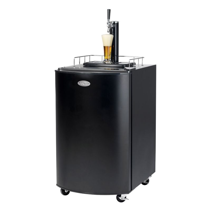 Nostalgia Electrics Full-Size Kegorator Draft Beer Dispenser, Black thumbnail